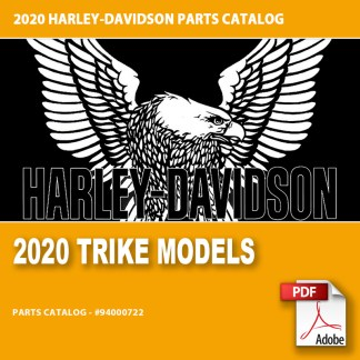 2020 Trike Models Parts Catalog #94000722