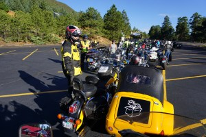 staging area for our ride to Pikes Peak