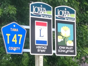 Iowa highway signs
