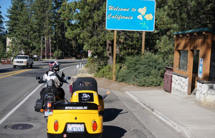 Motorcycle, Sidecar, Sister's Centennial Ride
