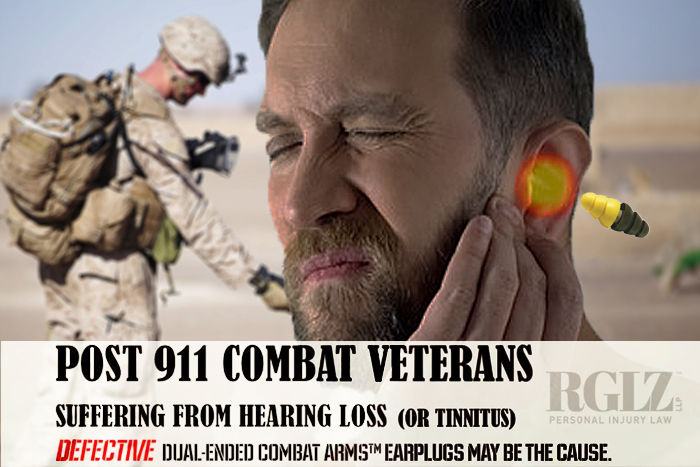 Soldier holding injured ear