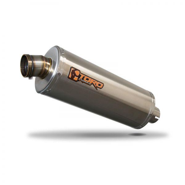 https motorcyclepartswarehouse co uk toro 51mm universal slip on oval stainless steel motorcycle exhaust 300mm html