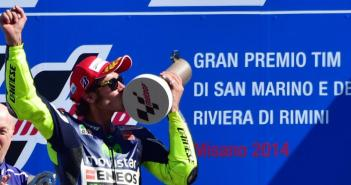 Valentino Rossi wint op Misano