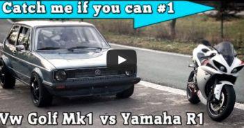 Yamaha R1 versus Volkswagen Golf 1
