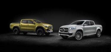 Mercedes-Benz Concept X-CLASS stylish explorer (rechts) und Mercedes-Benz Concept X-CLASS powerful adventurer (links) ; Mercedes-Benz Concept X-CLASS stylish explorer (right) and Mercedes-Benz Concept X-CLASS powerful adventurer (left);