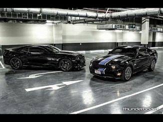 The black baddies! #chevrolet #camaro #ss #ford #mustang #gt