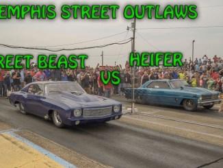 Memphis Street Outlaws Precious Cooper in Heifer Vs Doc's Street Beast 6/17/2017 (4k video)