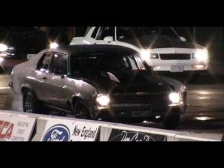 10 Second Turbo Nova gaps a subaru New England Dragway