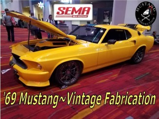 @SEMA 2017 #1969 Mustang Coyote Supercharged  by Vintage Fabrication for Fishtech