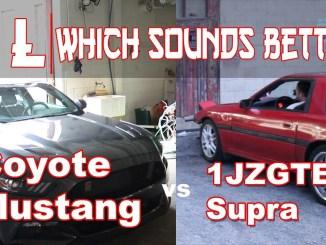 Mustang vs Supra Which Sounds Better? Borla Atak Mustang GT 1JZGTE MKIII Supra