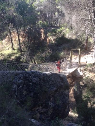 We didn't expect to find a rope bridge, Sierra Espuña