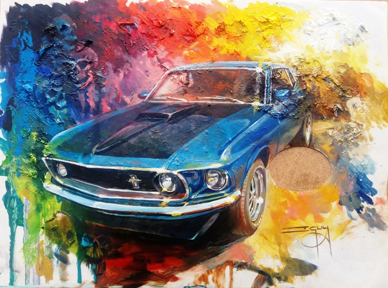 Mustang Palette Painting