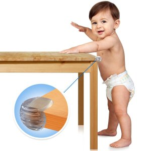 Top 10 Best Baby Corner Edge Safety Guards A Leaning On Table Fitted With Furniture Babyproof Protector
