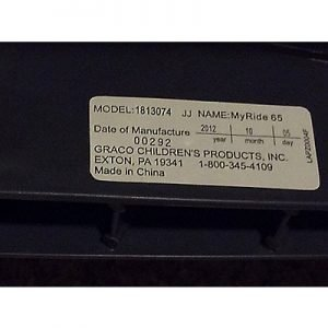 Graco My Ride 65 convertible car seat model numbers