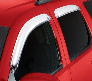 Auto Ventshade Chrome Ventvisor, Car Side Window Deflector