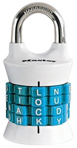 Master Lock 1535DWD Vertical Dial Resettable, Wordlock Combination Padlock, Word Combo Lock