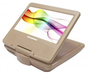 Sylvania SDVD7027-C-Gold 7 inch children's portable dvd player for car, best brand of portable dvd player