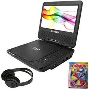 Sylvania SDVD7027 mobile media player, portable dvd player for car with bluetooth