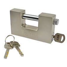 straight shackle padlock for roller-shutter doors