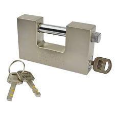 straight shackle padlock for roller-shutter doors