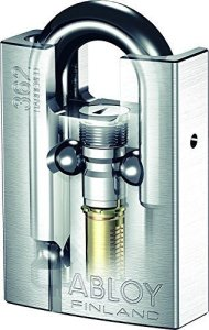 Abloy Protec2 PL 362 Shrouded Hardened Steel Padlock, disc locks for storage units