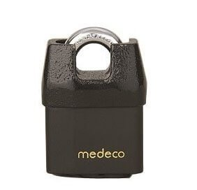 Medeco M3 Shrouded Boron Padlock, best lock for storage unit
