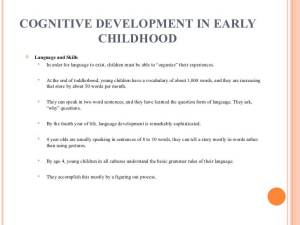 Stages in child cognitive development