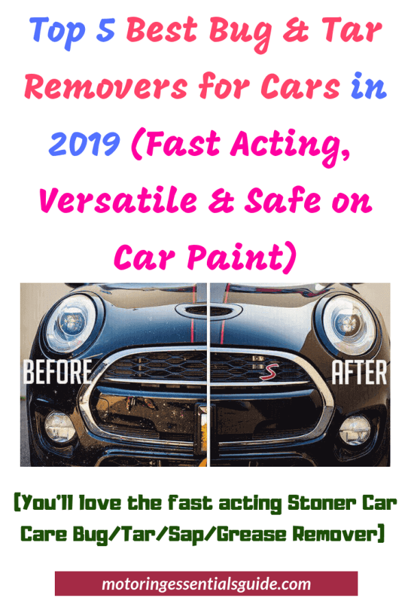 Expert review of the best bug and tar remover for cars