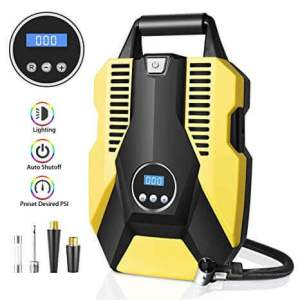 A Portable Air Compressor Pump from Sunvook, the best Portable Digital Tire Inflator, Amazon Black Friday offer for tire inflators