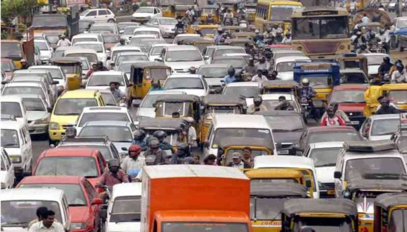 Vehicular polution is a big problem in India