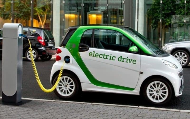 smart electric car-public charging station