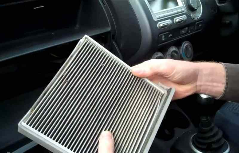 Replace dirty cabin filter