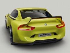 """Der neue BMW 3.0 CSL Hommage – die Originalfarbe des damaligen BMW 3.0 CSL """"Golf Yellow"""" bringt das sportliche Statement des BMW 3.0 CSL Hommage auf den Punkt."""