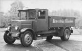 Luftvereifter Lkw MAN Typ KVB, Löwenbräu München, 1930