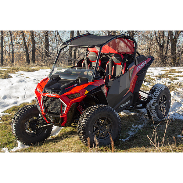 Rear Window Panel - Polaris RZR XP Turbo S - 2/4 Door - Red - MOTOROOF
