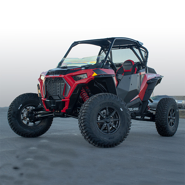 Rear Window Panel - Polaris RZR XP Turbo S - 2/4 Door - Black - MOTOROOF