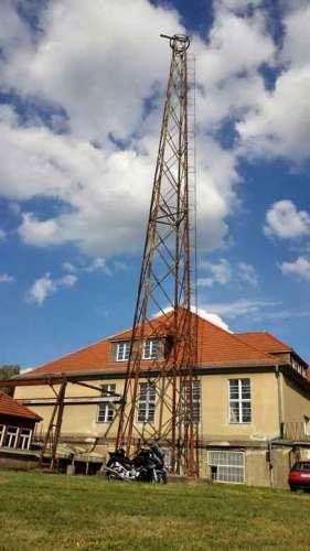 Letzter verbliebener Antennenmastes auf dem Funkerberg in Königs Wusterhausen