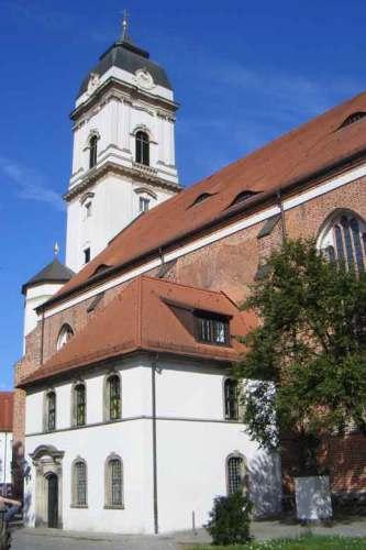 Dom St. Marien in Fuerstenwalde, Landkreis Oder-Spree, besichtigt bei einer Motorradtour Spree Oderland