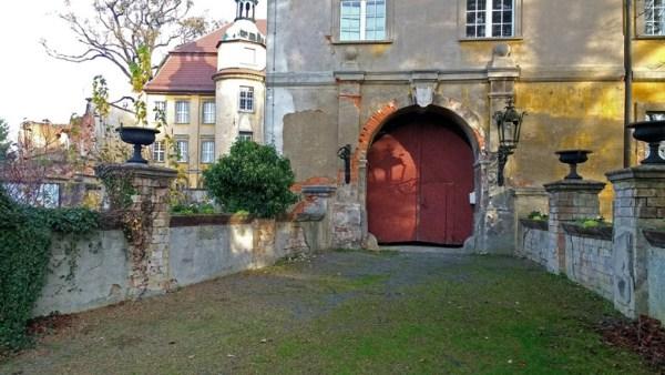 Toreingang Schloss Lieberose in der Niederlausitz