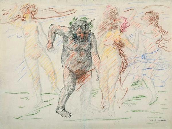 Lovis Corinth, Silen mit Bacchantinnen