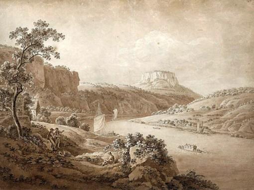 Adrian-Zingg,Elbschiffe bei Rathen