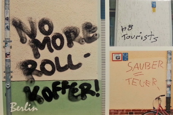Motorrad-Tourenerfahrungen mit Gepäck: No more Rollkoffer und zwei weiteren Graffiti