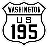 Strassenschild der U.S.195 in Washington State