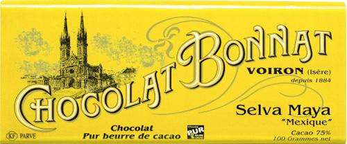 Chocolat Bonnat Selva Maya als Verpflegung auf einer Motorradtour durch den winterlichen Vercors
