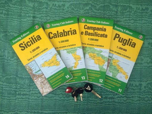 Landkarten von Sizilien Apulien Kampanien Basilikata und Apulien
