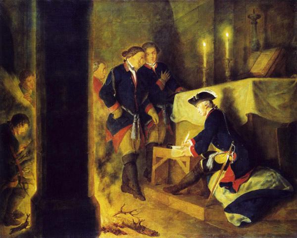 Friedrich d. Gr. in der Dorfkirche von Elsnig