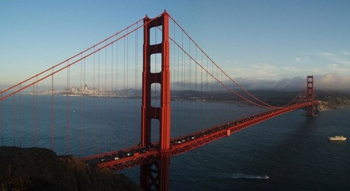 Golden Gate Bridge von oben