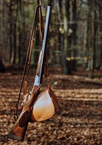 Drilling mit Jagdtasche