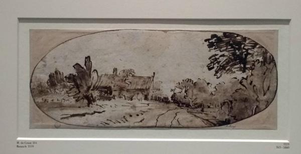 Heyman Dullaert (1636 - 1684): Landschaft mit einem Wirtshaus an einem Weg