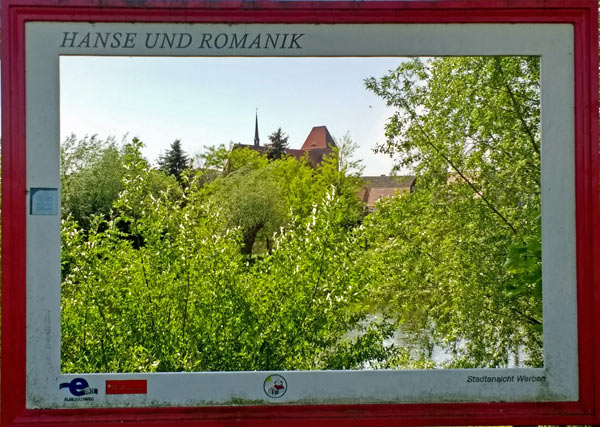Stadtansicht der Hansestadt Werben an der Elbe